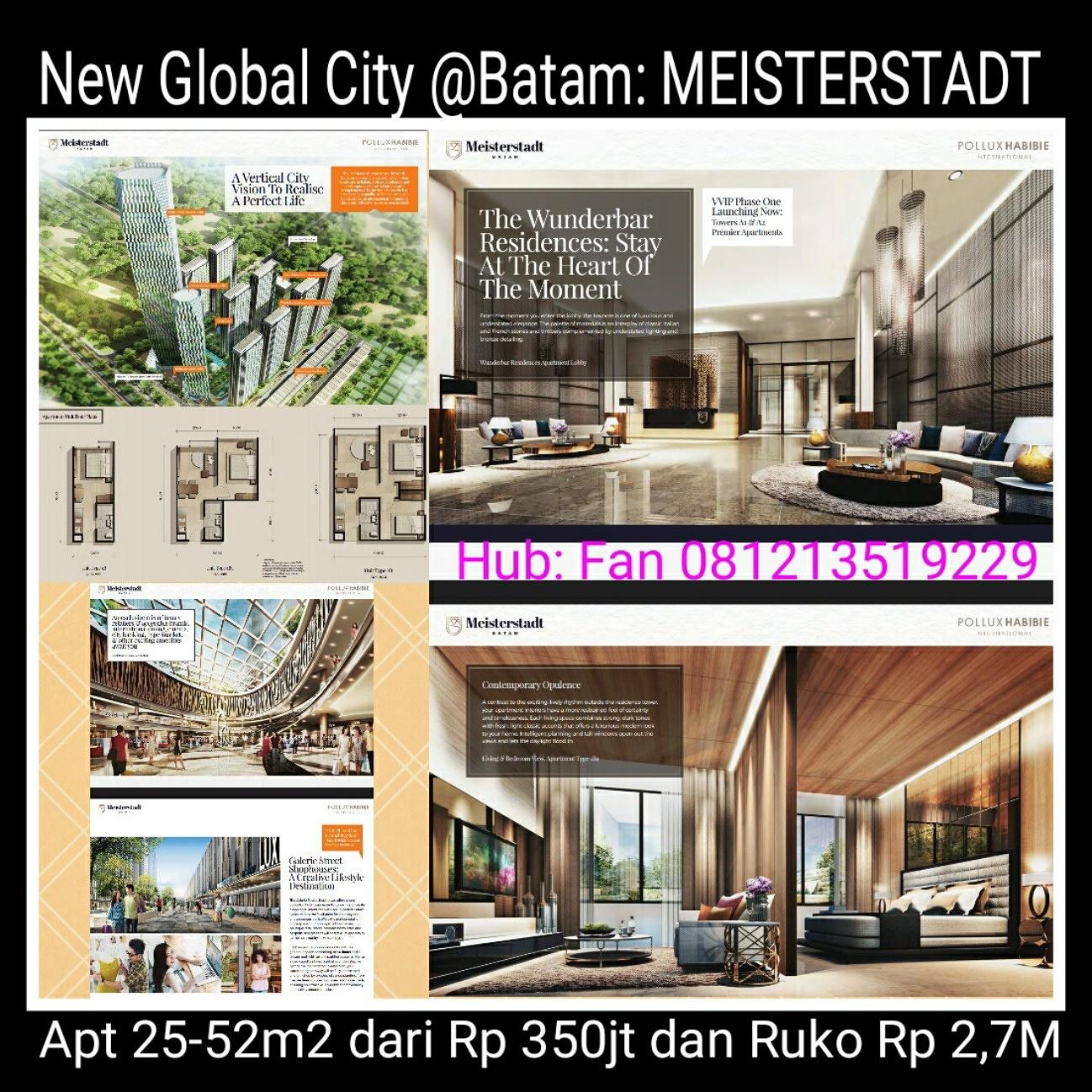 Apartment & Ruko Meisterstadt Batam 2