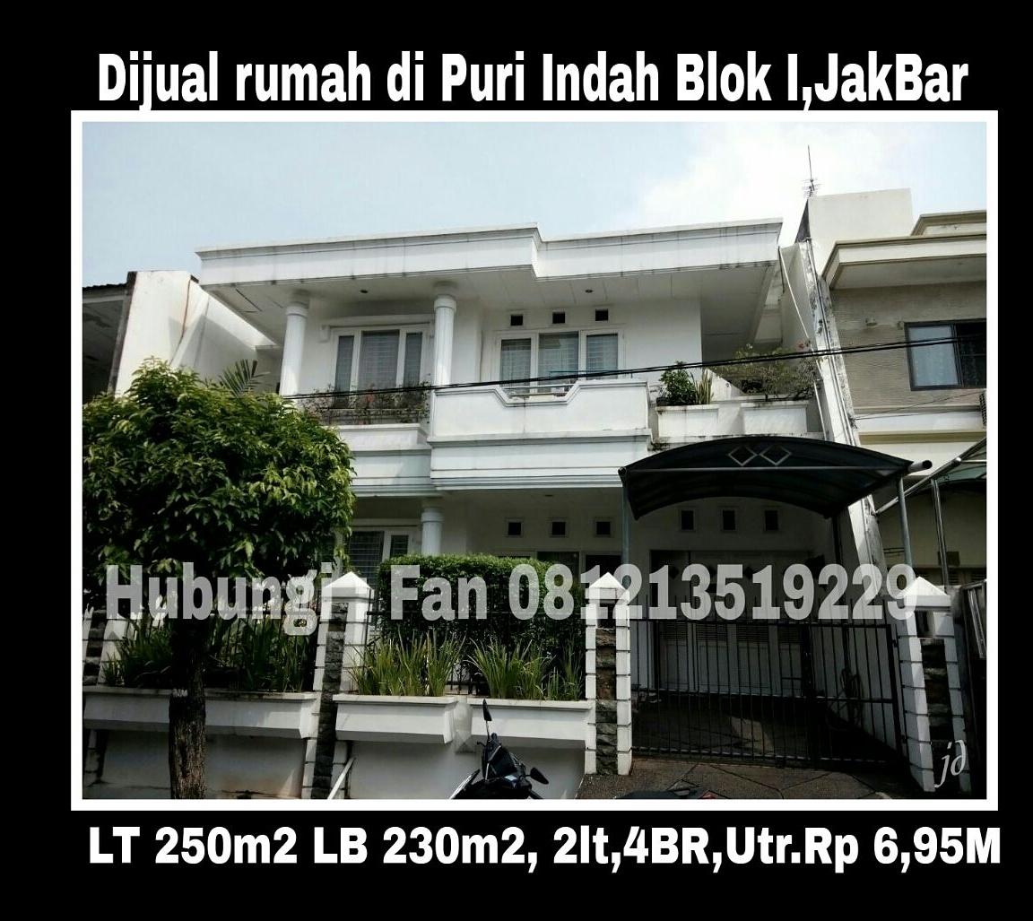 Rumah putih di Puri Indah blok I.jpg